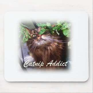 catnip addict mouse pad