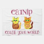 Catnip colorido toalla de cocina