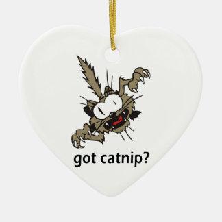 ¿catnip conseguido? adorno navideño de cerámica en forma de corazón
