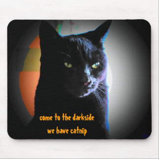 Catnip Darkside Black Cat Meme Mouse Pad