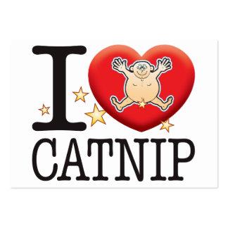 Catnip Love Man Large Business Card