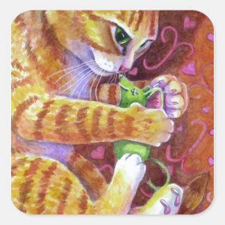 Catnip Mouse Square Sticker