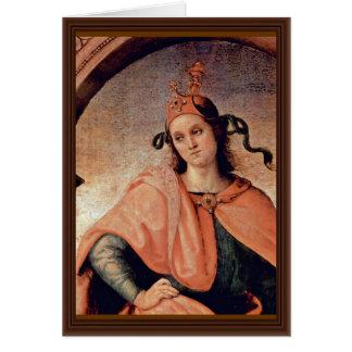 Cato By Perugino Pietro (Best Quality) Greeting Card