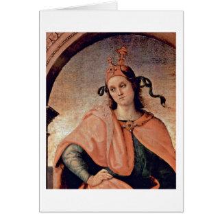 Cato By Pietro Perugino Greeting Cards