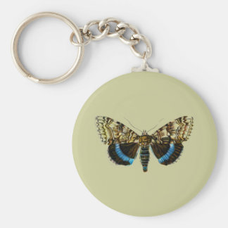 Catocala fraxini basic round button keychain