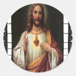 CATÓLICO 12 PRODU ADAPTABLE DE JESÚS CRIST DEL PEGATINA REDONDA