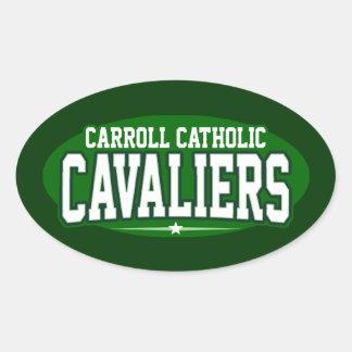 Católico de Carroll; Cavaliers Calcomanías Ovales Personalizadas