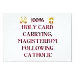 ¡Católico del 100%! Invitación 12,7 X 17,8 Cm