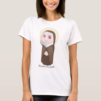 Católico lindo de Clare del santo Playera
