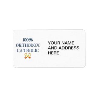 Católico ortodoxo del 100% etiqueta de dirección