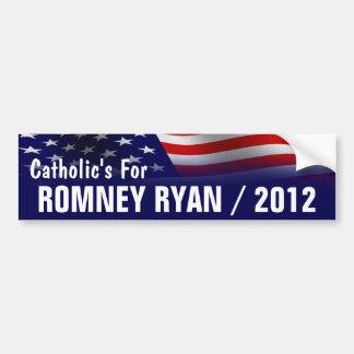 Católico para Romney Ryan 2012 Pegatina De Parachoque