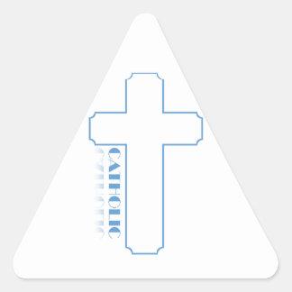 Católico Pegatina Triangular
