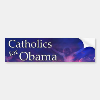 Católicos para Obama Pegatina De Parachoque