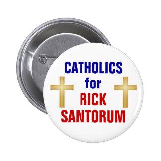Católicos para Santorum Pin