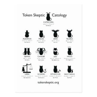 Catology escéptico simbólico/astrología tarjeta postal