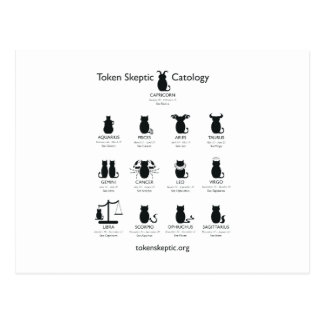 Catology escéptico simbólico/astrología tarjetas postales