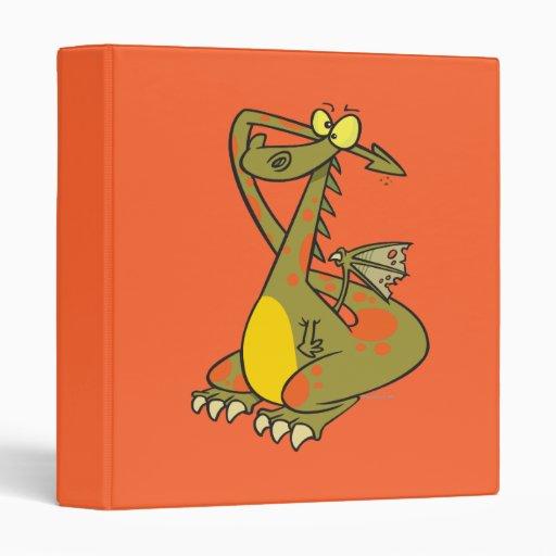 catoon tonto del dragón que se sostiene los oídos