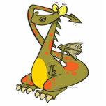 catoon tonto del dragón que se sostiene los oídos escultura fotográfica