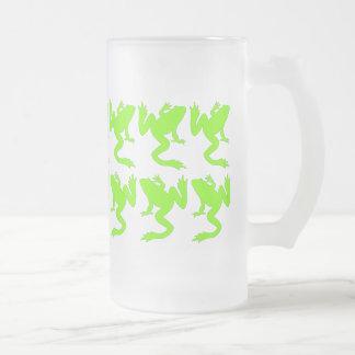 Catorce ranas afortunadas taza de cristal