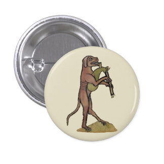 Catpipes/Dog playing cat bagpipes Button