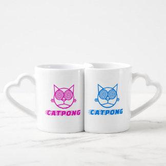 Catpong - Mr & Mrs Coffee Mug Set