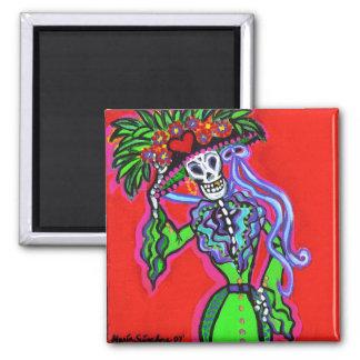 Catrina Corazon Verde Magnet