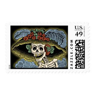 Catrina - Day of the Dead - Dia de los Muertos Postage