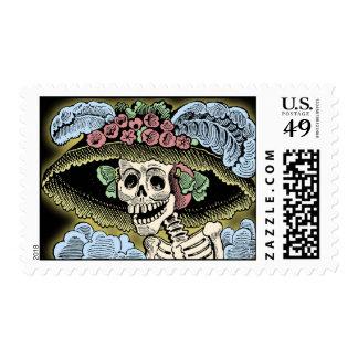 Catrina - día de los muertos - Dia de los Muertos Estampillas