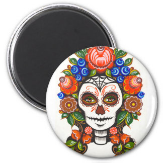 Catrina in flowers magnet