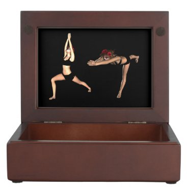 Catrina in the Warrior's Yoga Poses - Keepsake Box