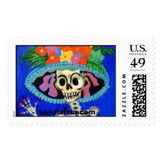Catrina, sandiafria.com postage stamp