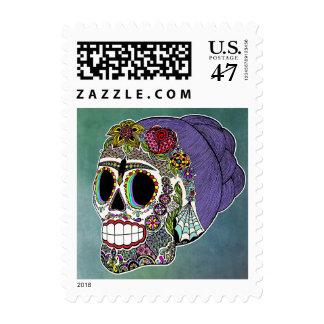 Catrina Sugar Skull Postage