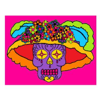 Catrina Sugar Skull Postcard