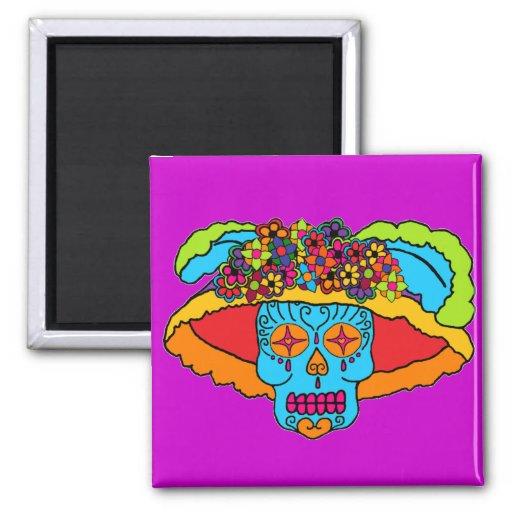 Catrina Sugar Skull Refrigerator Magnet