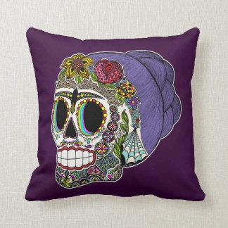 Catrina Sugar Skull Throw Pillow