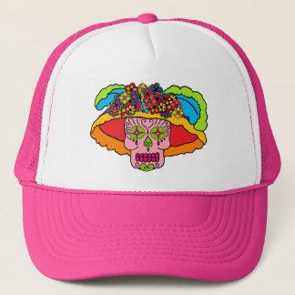 Catrina Sugar Skull Trucker Hat