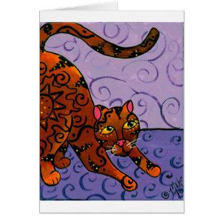 CatRisingSun Card