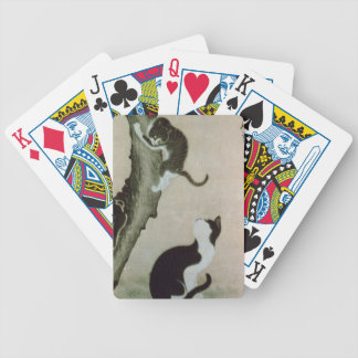 Cats, 17th century (ink on silk) bicycle playing cards
