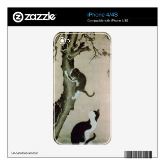 Cats, 17th century (ink on silk) decals for iPhone 4S