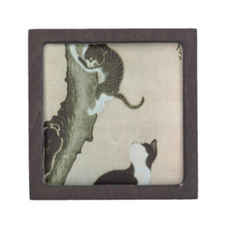 Cats, 17th century (ink on silk) gift box