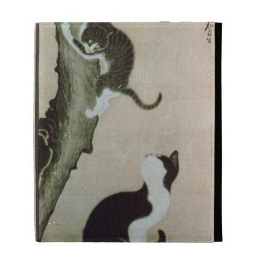 Cats, 17th century (ink on silk) iPad folio cover