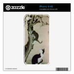 Cats, 17th century (ink on silk) iPhone 4 decals