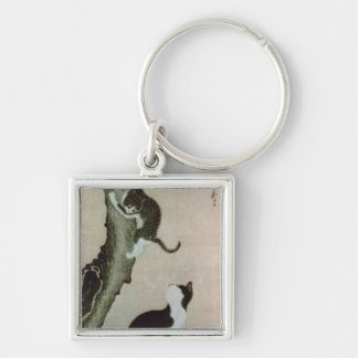 Cats, 17th century (ink on silk) keychain