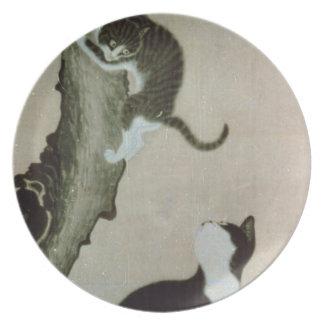 Cats, 17th century (ink on silk) melamine plate