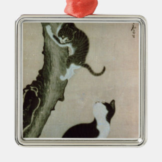 Cats, 17th century (ink on silk) metal ornament