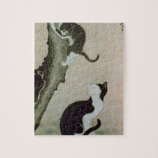 Cats, 17th century (ink on silk) puzzle