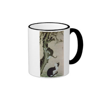 Cats, 17th century (ink on silk) ringer mug