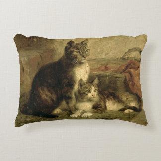 Cats, 1883 decorative pillow