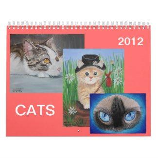 CATS 2012 WALL CALENDAR calendar