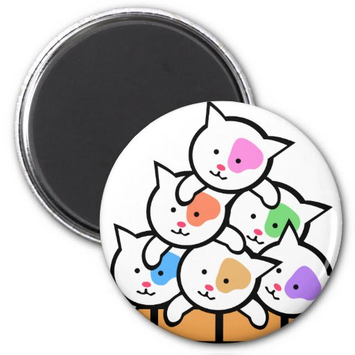 Cats 2 Inch Round Magnet